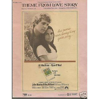 Sheet Music Love Story Francis Lai 88 Everything Else