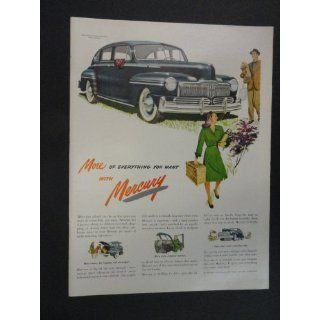 1947 Mercury cars. print ad. 10 1/4 x 13 1/2 Full Page
