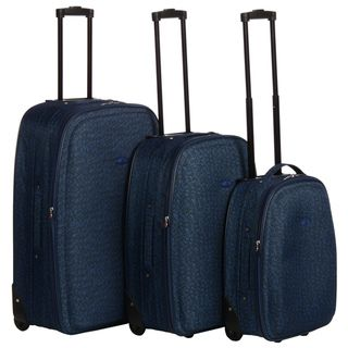Chicane 3 piece Expandable Molded Upright Luggage Set