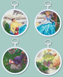 Cinderella Mini Vignettes Counted Cross Stitch Kit 3 Round 16 Count