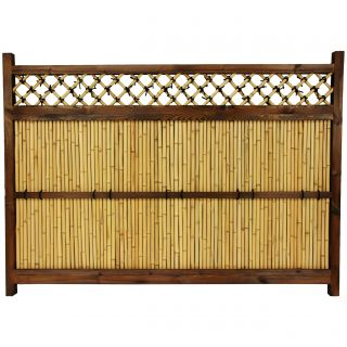 Japanese Bamboo 4x5.5 foot Zen Garden Fence (China)