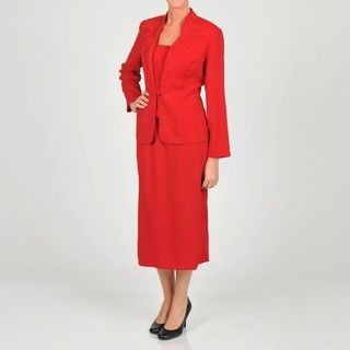 Allyson Cara Womens Plus Size Skirt Suit