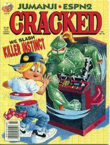 Cracked Magazine #308 July 1996 Killer Instinct Parody & Cover