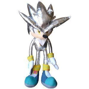 Sega Sonic The Hedgehog X Silver Sonic XL Plush Doll