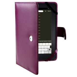 Purple Leather Case for  Kindle Fire