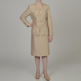 Allyson Cara Womens Double breasted Skirt Suit