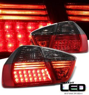 BMW E90 325i 328i 330i 4 Door Sedan 06 07 Red Smoke o LED Tail