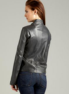 Tahari Veronica Leather Jacket