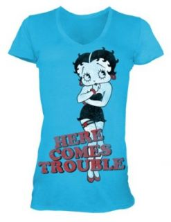 Betty Boop   Here Comes Trouble Womens T Shirt In