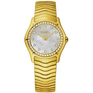Ebel Womens 18k Gold Diamond Watch