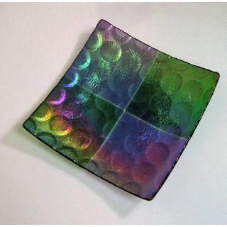 9 1/2 Inch Square Spot Texture Plate Mold for Glass