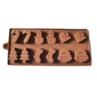 Christmas Theme Cake and Chocolate Silicone Baking Mold