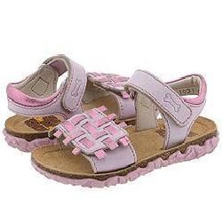Stones and Bones Kids Straw White/ Pink Sandals   Size 5 Infant