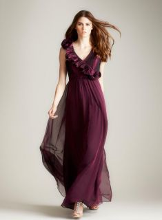 Teri Jon Raspberry Colored Gown