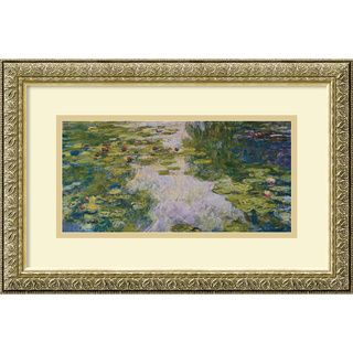 Claude Monet The Water Lily Pond, 1918 Framed Art Print