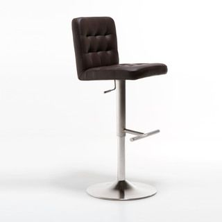 Dexter Adjustable Height Swivel Tufted Stool