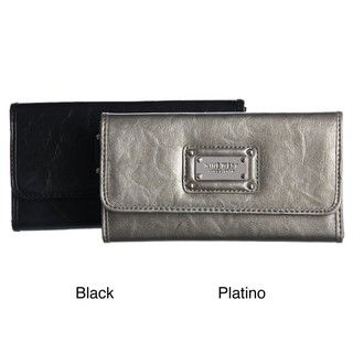 Nine West Platino Checkbook Secretary Wallet