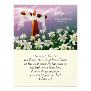is Risen! Easter Church Bulletins Letterhead Template