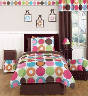 Sweet JoJo Designs Deco Dot 3 Piece Full/ Queen Bedding Set