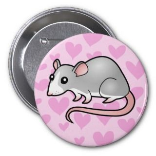 Rat Love (silver blaze) buttons by SugarVsSpice