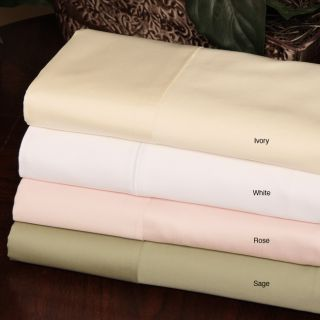 Cotton Sateen 600 Thread Count Solid Sheet Set (Rose)
