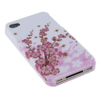 rooCASE iPhone 4 Spring Flower Design Plastic Case