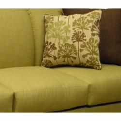 Lansing Lime Green Fabric Sofa and Loveseat