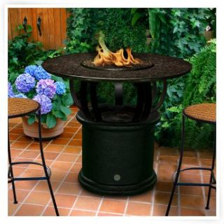 California Outdoor Concepts Del Mar Chat Height Fire Pit   Propane