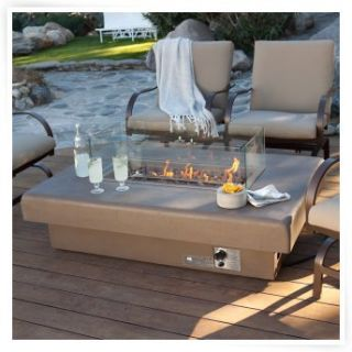 Palazetto 48 in. Gas Fire Table   Sand   Propane Fire Pits at