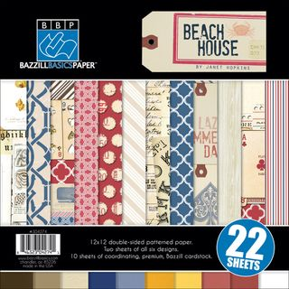Beach House Multi Pack Paper 12X12 22 Sheets 6 Double Sided Designs