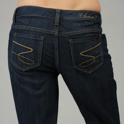 Seven 7 Womens Basic Straight Leg Jeans