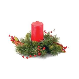 12 in. Classical Single Candle Holder   Christmas Wreaths