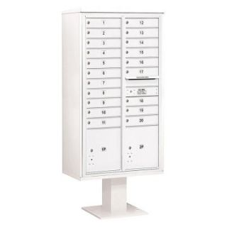 Column 4C Pedestal Mailbox with 3 PL  and 20 MB1 Doors