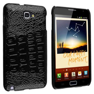 Black Crocodile Rear Case for Samsung Galaxy Note N7000/ i717