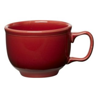 Fiesta Scarlet Jumbo Cup 18 oz.   Set of 4   Coffee Mugs & Tea Cups at