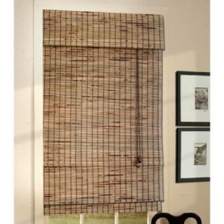 Lewis Hyman 0108 Deluxe Bamboo Roman Shade with 6 in. Valance