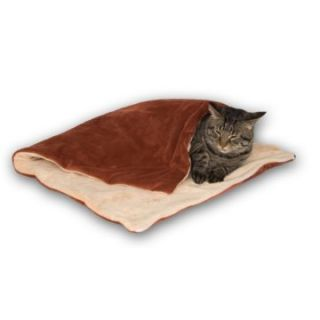 Thermo Kitty Throw   24 x 36   Rust & Cream   Cat Toys