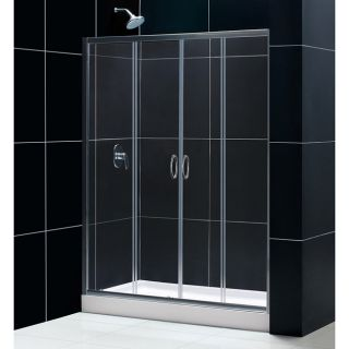 DreamLine Visions 60x72 inch Clear Glass Shower Door and  Base