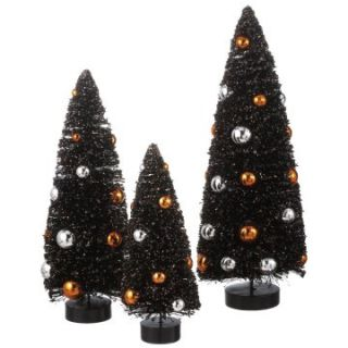 Midwest CBK Halloween Whimsies Spooky Bottle Brush Tree   Set of 3 at