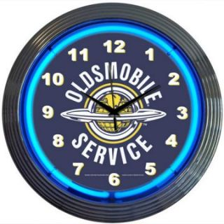 Neonetics GM Oldsmobile Service Neon Clock   Clocks