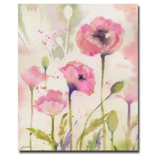 Sheila Golden Oriental Poppy Garden Canvas Art