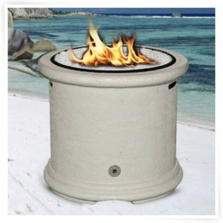 California Outdoor Concepts Island Chat Height Fire Pit   Burnt Orange