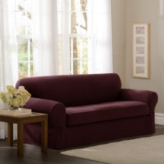 Maytex Stretch Pixel Two Piece Loveseat Slipcover   Loveseat