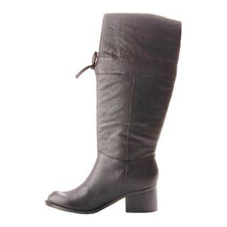 Womens Jessica Simpson Rida Black Bomber Leather