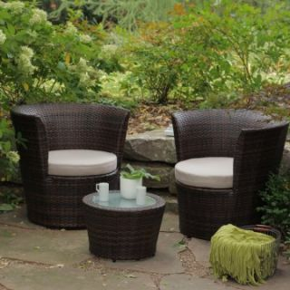 Sanibel All Weather Wicker Balcony Chat Set   Outdoor Bistro Sets at