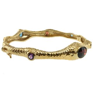 Michael Valitutti Two tone Multi gemstone Bangle