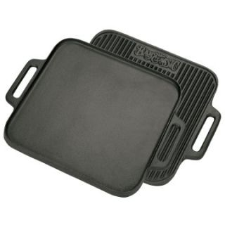 Bayou Classics Cast Iron Reversible Square Griddle   Cast Iron