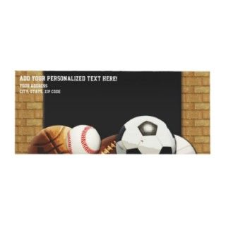 All Star Sports Balls w/ Brick Wall Envelope