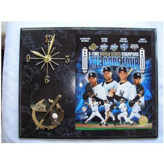 World Series Champion New York Yankees Core Four Picture Plaque Clock