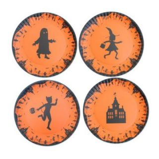 Glitterville Halloween Silhouettes Plates   9 in.   Set of 4 at